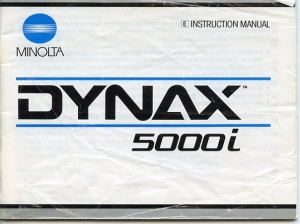 Used Minolta Dynax 5000i Instruction Manual